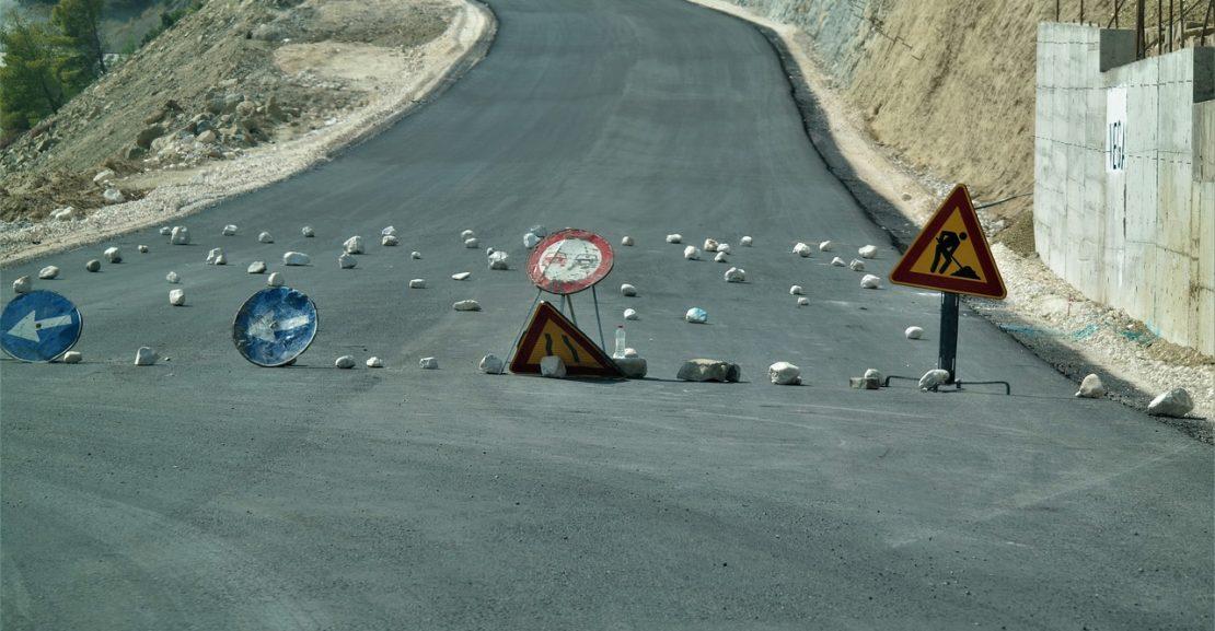 Travaux route 1110x577