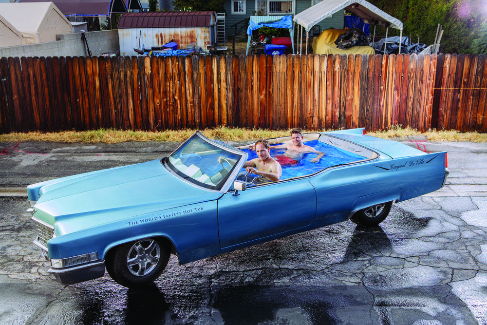 Hot tub car